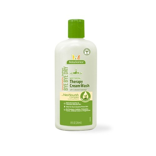 Babyganics Moisturizing Therapy Cream Wash- 8oz