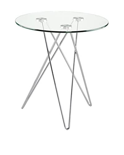 Eurostyle Zoey Round Glass Table, Clear