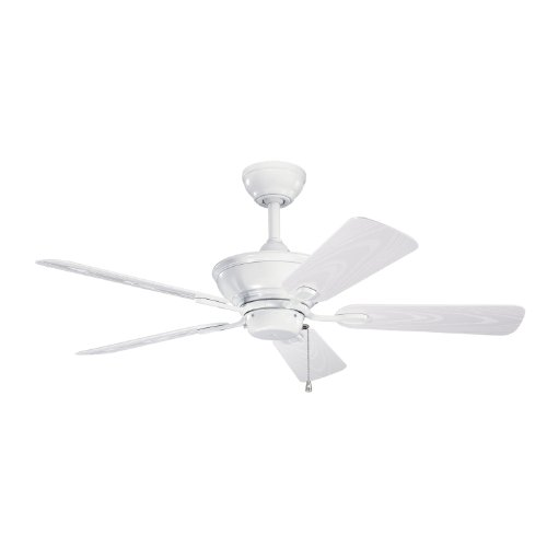Kichler Lighting 339524Wh Trent 44-Inch Wet Location Ceiling Fan, White Powder Coat Finish With White Abs Blades front-1015041