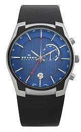 Skagen GMT/Alarm Function Blue Dial Men's watch #853XLSLN