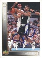 J.R. Reid San Antonio Spurs 1994 Upper Deck Autographed Hand Signed Trading Card. by Hall+of+Fame+Memorabilia