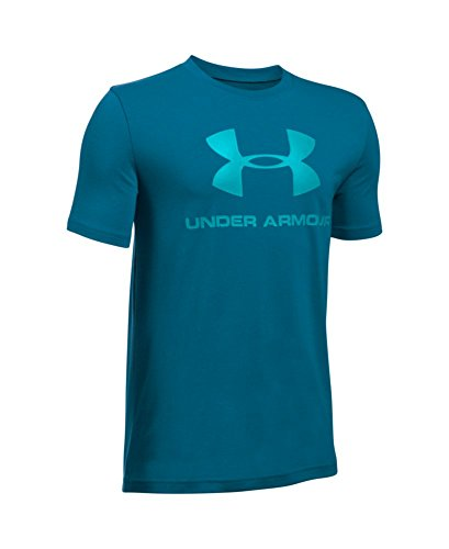 Under Armour Boys' Sportstyle Logo T-Shirt, Peacock (779), Youth Small