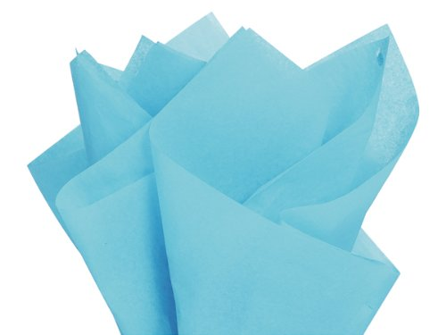 "Brand New Aqua Oxford Blue Bulk Tissue Paper 15"" X 20"" - 100 Sheets"