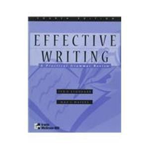 Effective Writing: A Practical Grammar Review