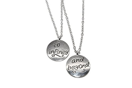 Lux Accessories Best Friends BFF Forever To Infinity and Beyond Necklaces (2 PC)