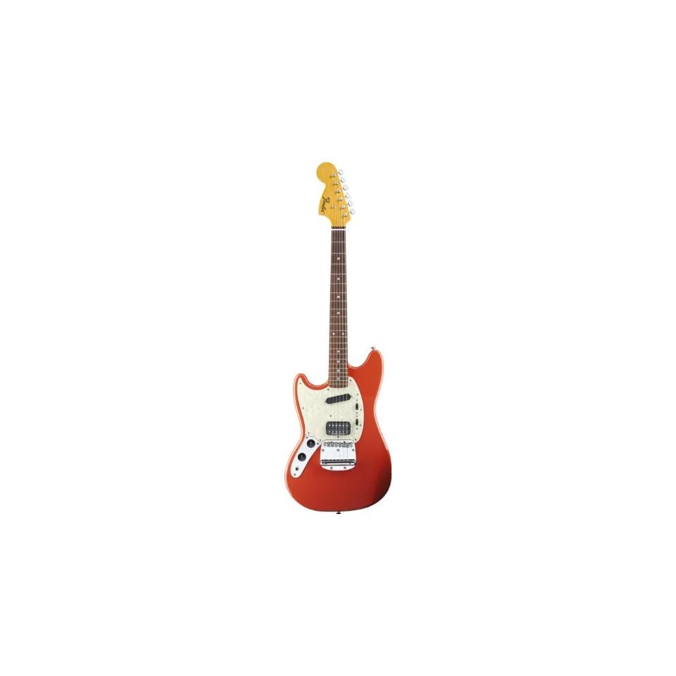 Fender 251420540 Kurt Cobain Mustang Electric Guitar, LH Fiesta Red