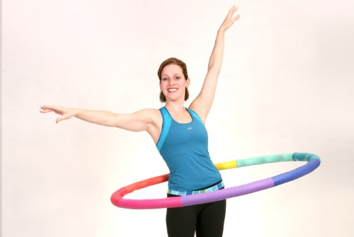 """Sports Hoop® - Acu Hoop® 4M - 4lb (Dia.40"""") Medium, Weighted Hula Hoop for Workout with 50 minutes Workout Lesson DVD"""