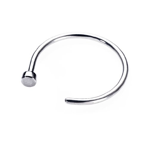 Steel Nose Hoop Ring 20G x 5/16