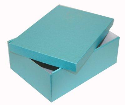Pearlised Turquoise 100 x 280 x 200 mm Rigid Box & Lid