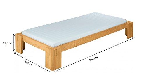 Dario lit pour les adolescents de 100x200 cm, bois d'aulne massif biologique