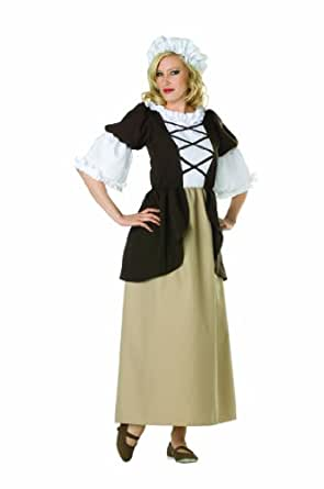 RG Costumes Women's Colonial Peasant Lady, Brown/Tan, 2-4/Small