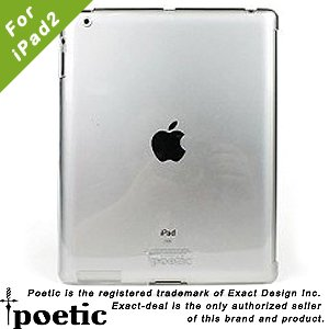 Poetic Smart Shell Smart Cover Partner V2 Snap On Slim-Fit Case for Apple iPad 2 - Crystal Clear