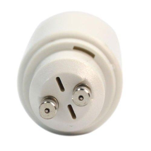 SODIAL(R) Adaptateur Lumiere Ampoule GU10 a E27 blanc