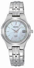 Unisex Casio SUT047@Wmns Stnl Steel MOP Dial Date