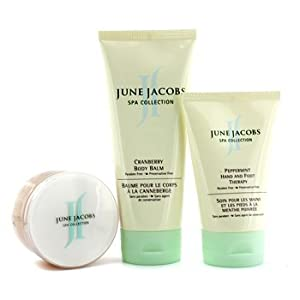 At Home Spa Kit: Peeling Masque + Hand & Foot Therapy + Body Balm by June Jacobs - 13481899914