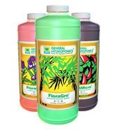 General Hydroponics Flora Series QT - FloraGro, FloraBloom, and FloraMicro, 32 oz each