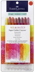 Faber-Castell FBR770520 FaberCastell Paper Crafter Mix & Match Crayon Set - Red & Yellow
