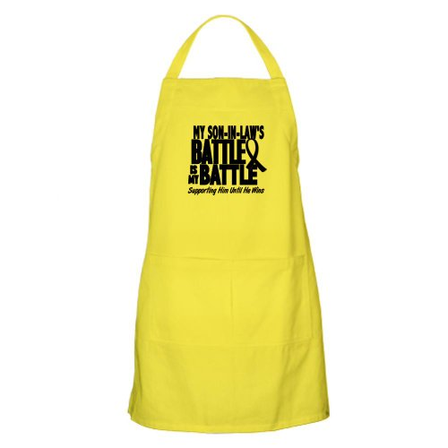 Cafepress My Battle Too 1 Blue Son-In-Law BBQ Apron - Standard