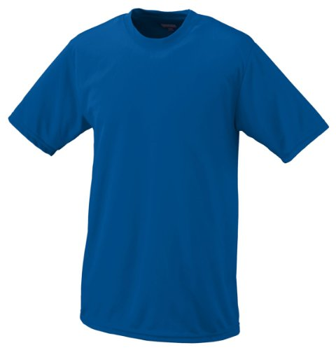 Augusta Sportswear Youth Wicking Knit T-Shirt, Royal, Small front-940502