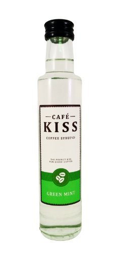 Café Kiss Green Mint Flavoured Coffee Syrup 250ml (Pack of 3)