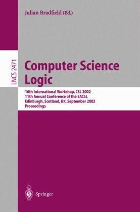 Computer Science Logic, 16 conf., CSL 2002