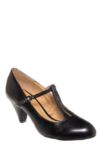 Chelsea Crew Ginger Mid Heel T-Strap Mary Jane Shoe