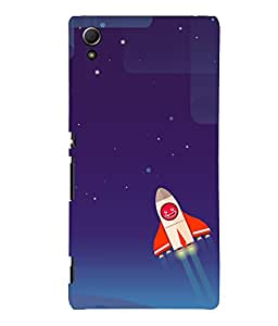 printtech Rocket Meme Sky Back Case Cover for Sony Xperia Z4::Sony Xperia Z4 E6553