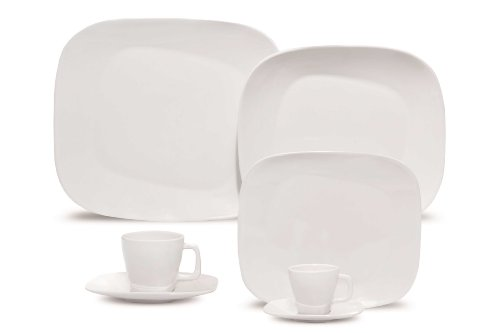 Karim Rashid 20 Pieces Porcelain Dinnerware / Espresso Set (White)