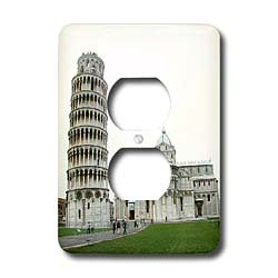 Vacation Spots - Tower Of Pisa Italy - Light Switch Covers - 2 plug outlet cover