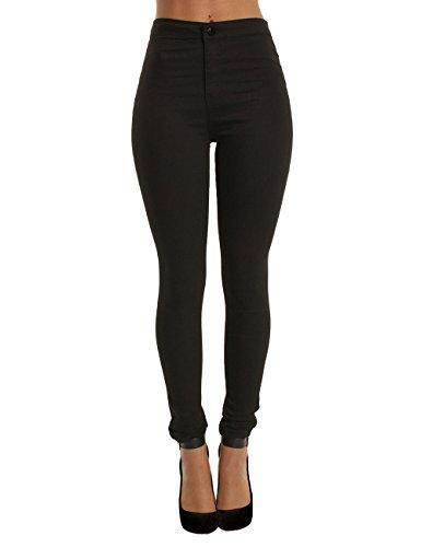 Lantch Pantaloni Skinny Lunghi per Donna con vita alta