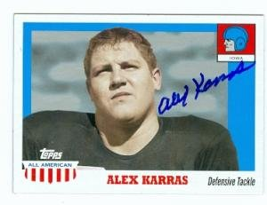Alex Karras autographed Football Card (Detroit Lions Iowa College) 2005 Topps All... by Autograph Warehouse