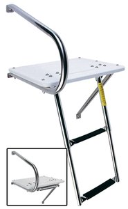 Garelick/EEz-In 19536:01 Marine Outboard Transom Platform and Telescoping Ladder