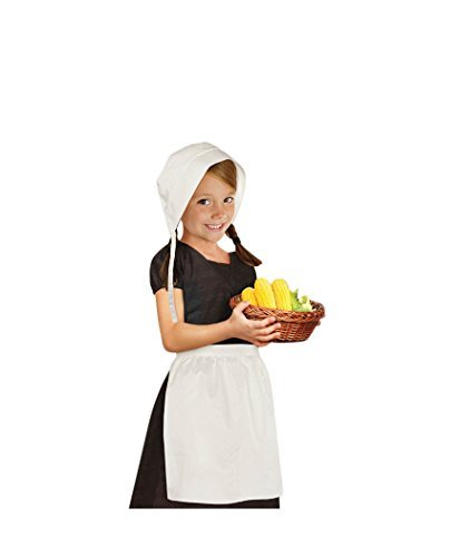 Pilgrim Girl Bonnet and Apron Set - Child