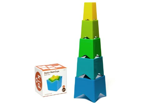 Kid O Stack and Nest Cups (Cool Colors) - 1