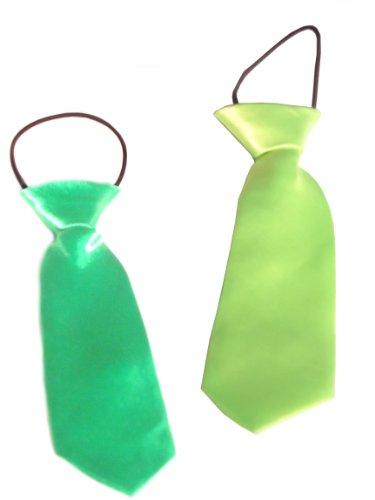 WeGlow International Neck Ties, Lime/Green, Set of 2