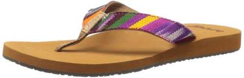 Reef Womens Guatemalan Love Thong Sandals R1172TMT Tan/Multi 6 UK, 38.5 EU