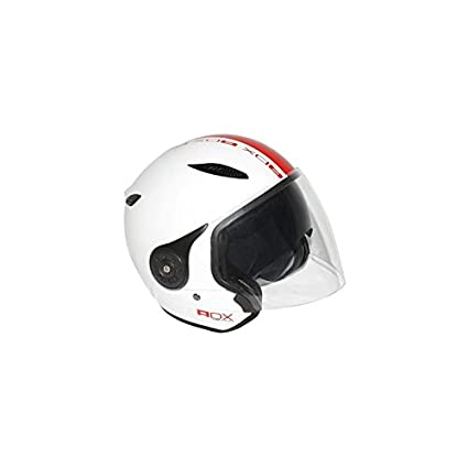 ADX - CASQUE JET ADX DESIGN BRILLANT BLANC-ROUGE L (DOUBLES ECRANS)