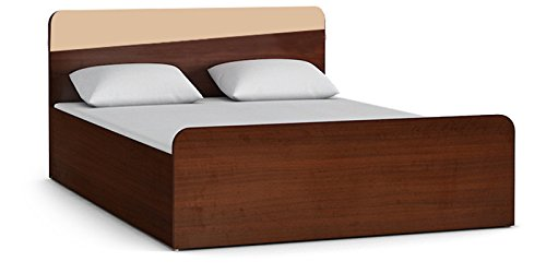 HomeTown Stylo Queen Size Bed with Storage (Wenge)