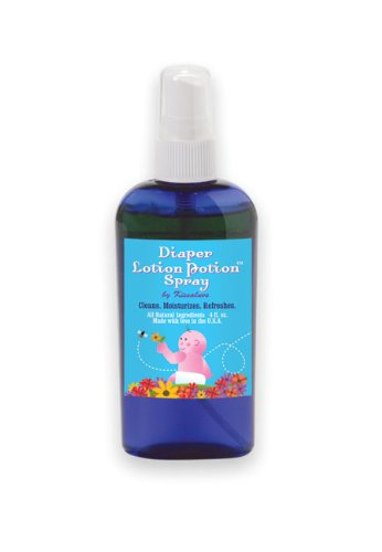 Kissaluvs Diaper Lotion Potion 4 Oz, Spray front-438235