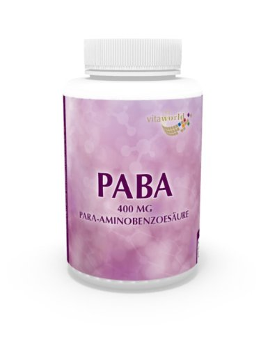 Paba 400Mg 120 Capsules Vita World German Pharmacy Production
