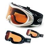 [09-10モデル] AXE[アックス] スノーボード/スキーゴーグル AX460-D 初心者用 曇り止め機能付 眼鏡[メガネ]対応◆ブラック
