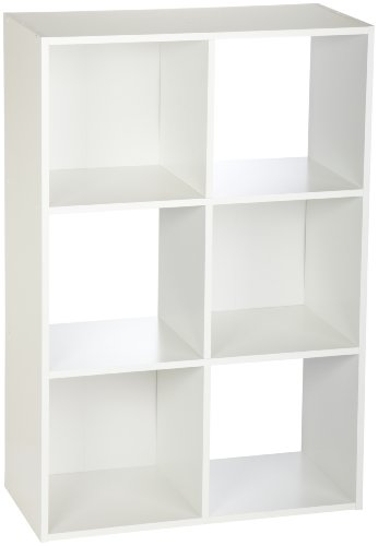 ClosetMaid 8996 Cubeicals 6-Cube Organizer, White (White Storage Shelves compare prices)