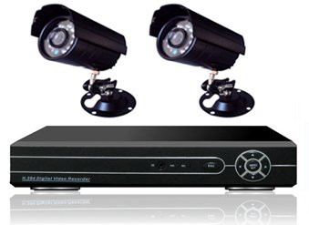 2 Camera Sony Ccd Diy Cctv Security System 4 Channel Dvr Recorder Indooor Outdoor Ir Night Vision Kit