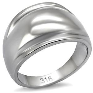 STAINLESS STEEL RING - Simple Dome Ring