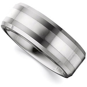 Beveled Band W/Ster Inlay NA 10.5