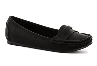 Odeon Black Womens Penny Loafer Shoes US Size 10