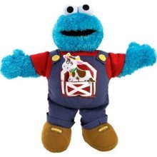 Singing Farmer Cookie Monster Sesame Street Plush. Fisher Price (Cookie Monster Fisher Price compare prices)