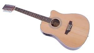 Western Gitarre 12 saitig, Tonabnehmer & EQ, natur