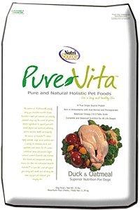 Nutrisource Pure Vita Duck & Oatmeal Dog Food 15 Lbs.