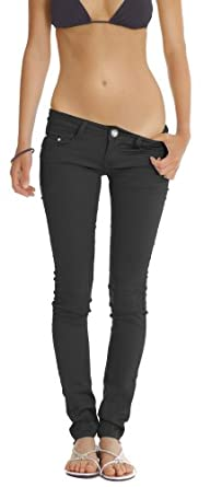 n.n. jean skinny, jean stretch pour femme j39p-n 44/XXL Noir
